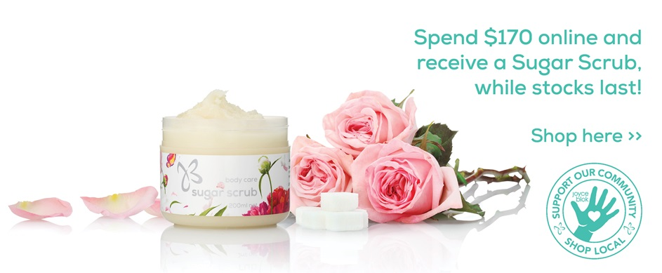 Free Sugar Scrub with purchases $170 and over!