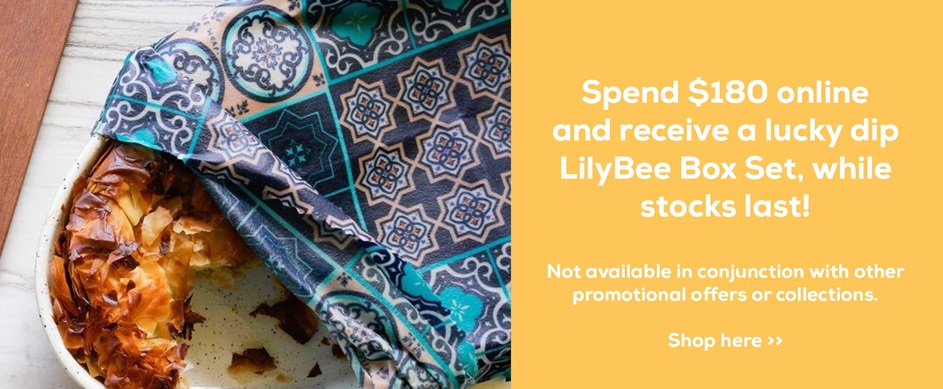 Spend $180 online and receive a lucky dip LilyBee Box Set, while stocks last!